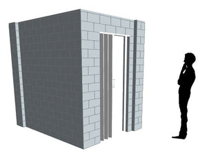 L Shaped Wall - W/ Door - 8 x 6 x 8 Ft