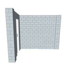 Load image into Gallery viewer, L Shaped Wall - W/ Door - 8 x 10 x 8 Ft
