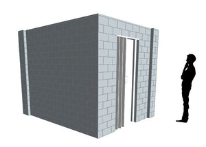 L Shaped Wall - W/ Door - 8 x 10 x 8 Ft