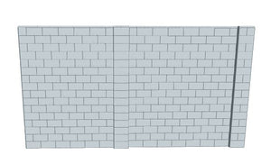 L Shaped Wall - 15 x 15 X 8 Ft