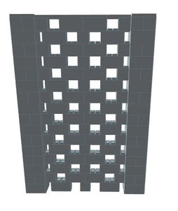 Stagger Pattern Wall - 6 x 8 Ft