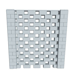 Stagger Pattern Wall - 8 x 8 Ft