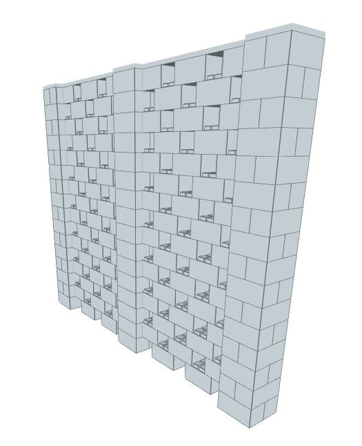 Stagger Pattern Wall - 10 x 8 Ft