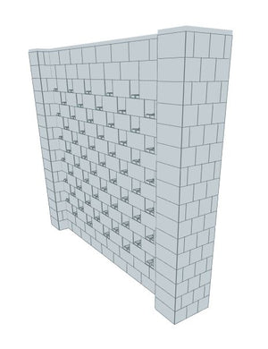 Stagger Pattern Wall - 10 x 8 Ft (2)