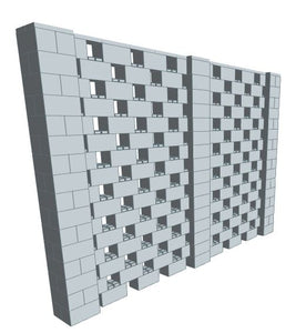 Stagger Pattern Wall - 12 x 8 Ft