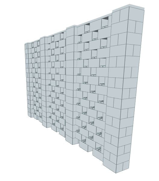 Stagger Pattern Wall - 14 x 8 Ft