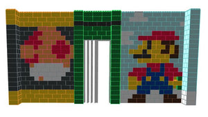 Mosaic Wall - Mario - 20 x 2 x 10 Ft
