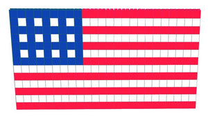 Mosaic Wall - American Flag - 12 Ft x 1 Ft 3 In x 6 Ft 7 In