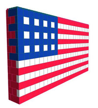 Load image into Gallery viewer, Mosaic Wall - American Flag - 12 Ft x 1 Ft 3 In x 6 Ft 7 In