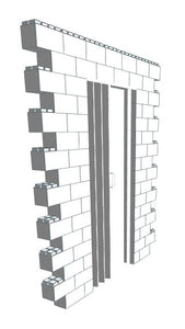Wall Building Component - Wall Section W/ Door - 7 x 8 Ft