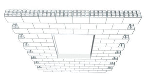 Wall Building Component - 8 x 8 Ft Wall Section W/ Window