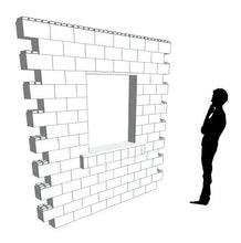 Load image into Gallery viewer, Wall Building Component - 8 x 8 Ft Wall Section W/ Window (2)