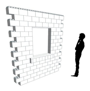 Wall Building Component - 8 x 8 Ft Wall Section W/ Window (2)