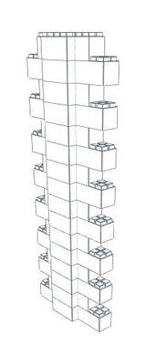 Wall Building Component - Heavy Duty Wall Column 6-8 Ft