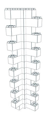 Wall Building Component - Heavy Duty Wall Column Corner