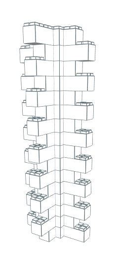 Wall Building Component - Heavy Duty Wall Column Corner 2