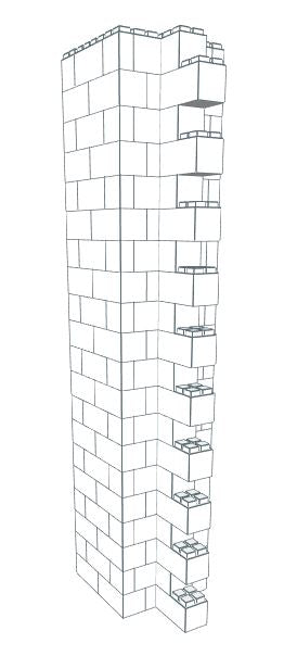 Wall Building Component - SuperTall Construction Column 12-16 Ft