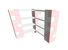 Load image into Gallery viewer, Shelving - 4 Level Corner Shelving Kit A/Thick Columns