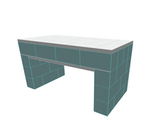 Load image into Gallery viewer, Table - Single Layer Top Coffee Table - 4 x 2 x 2 Ft 1 In