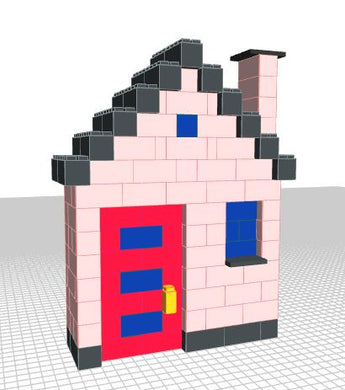 Model - Mini House - Two Sided - 5 x 2 x 7 Ft