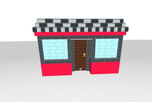 Storefront Facade - 12 x 3 x 8 Ft