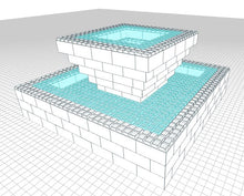 Load image into Gallery viewer, Model - Fountain - 7 Ft 6 In x 7 Ft 6 In x 3 Ft 7 In