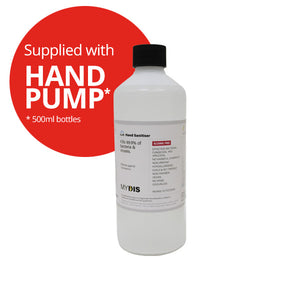 Alcohol Free Hand Sanitiser Gel with Pump Fitting - 500ml