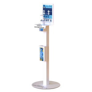 Hand Sanitiser Station in White