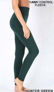 Fleece Lined Leggings Hunter Green
