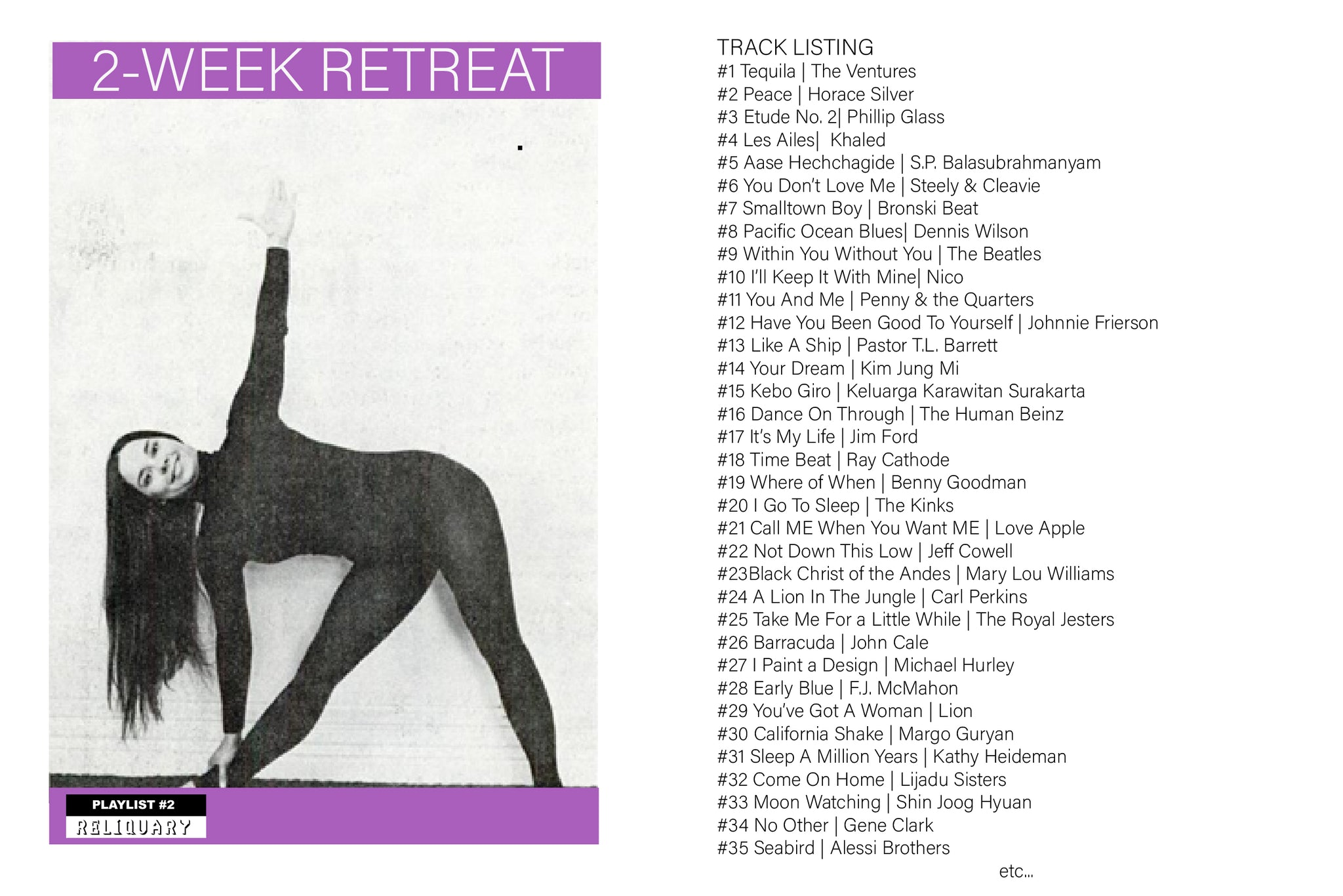 Reliquary Playlist #2 | 2-Week Retreat