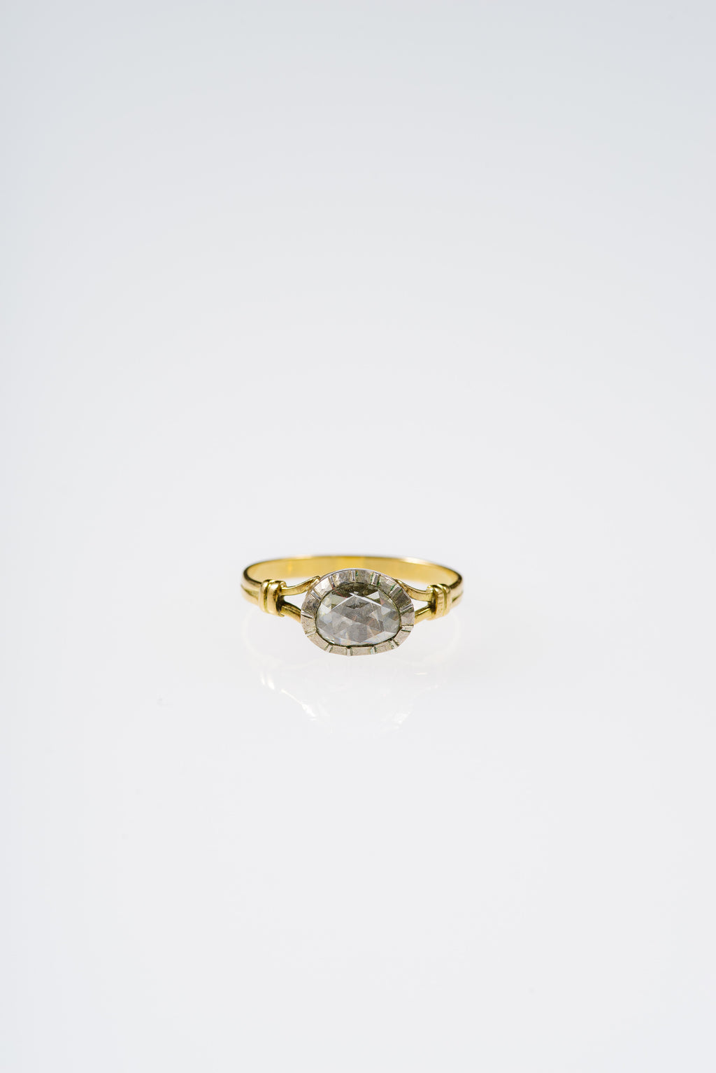GEORGIAN ERA OVAL DIAMOND RING