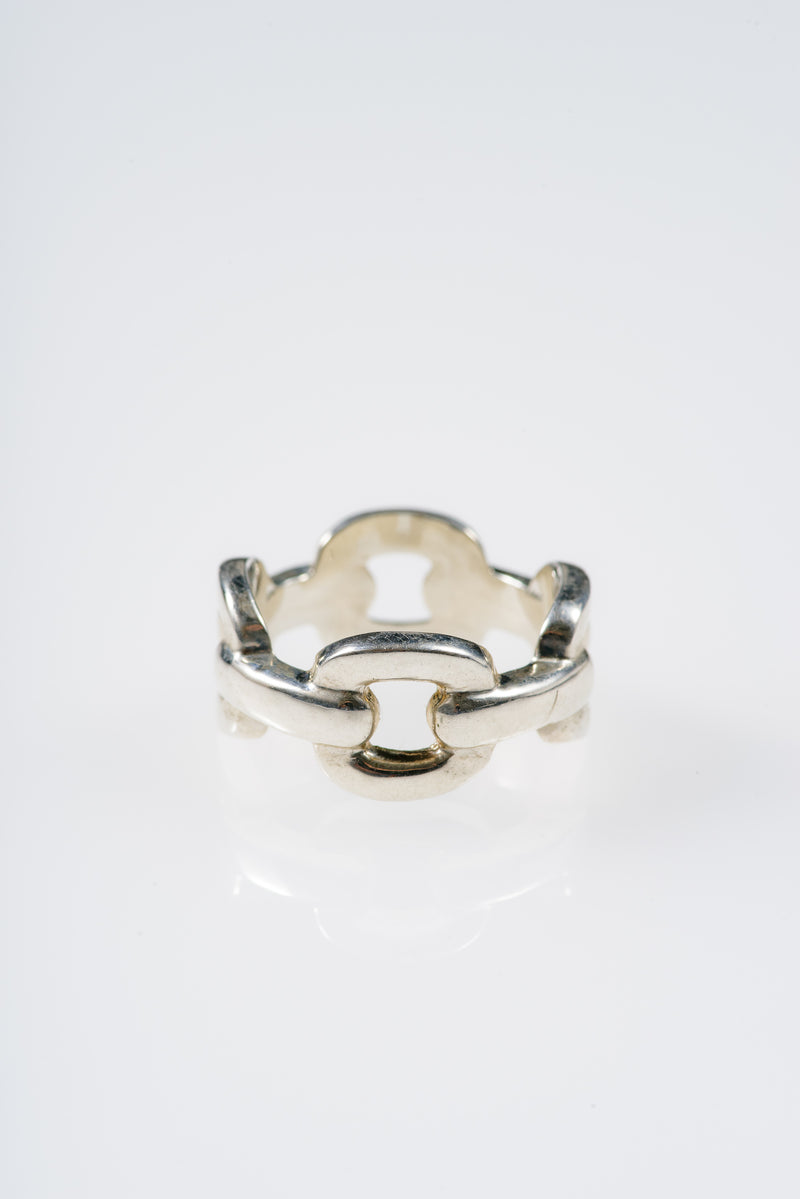 CHAIN RING IN STERLING SILVER