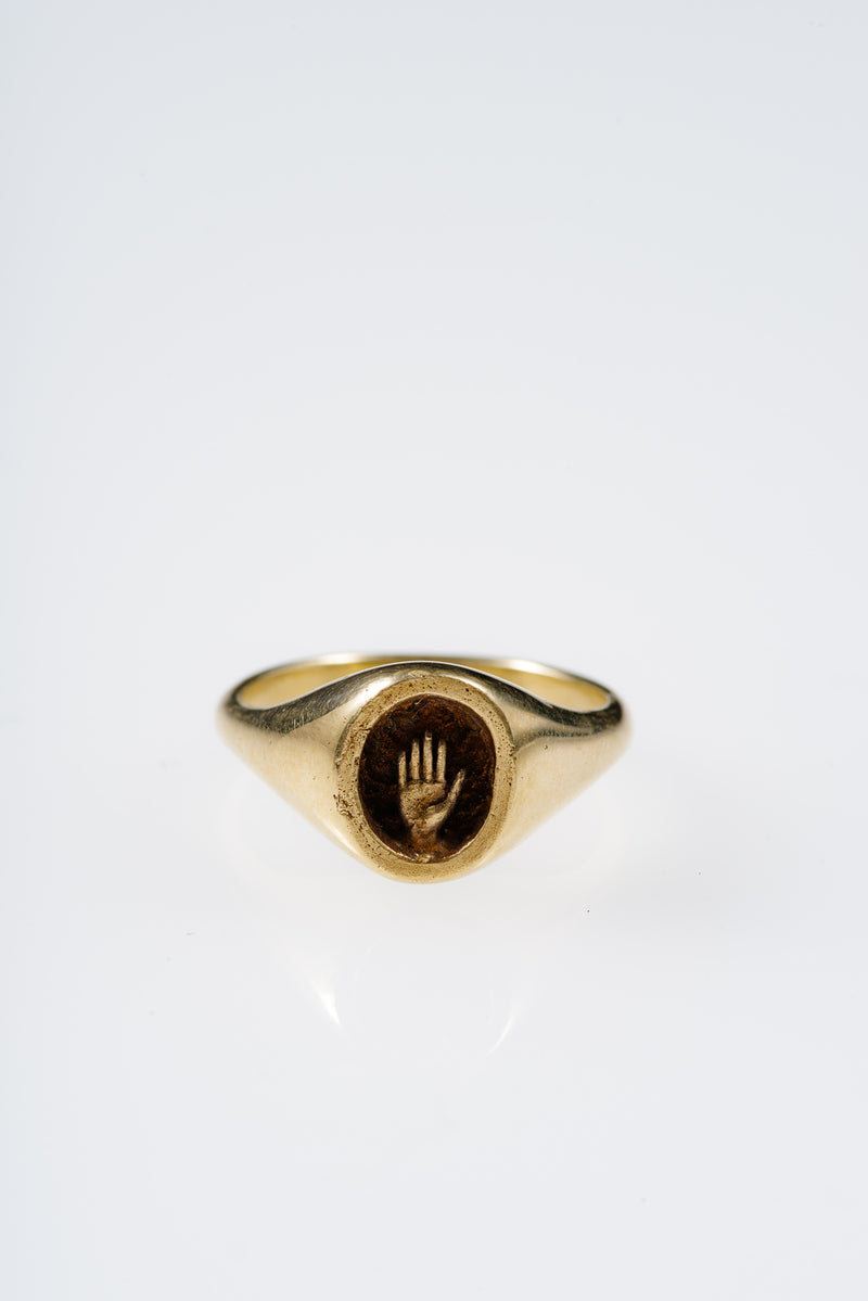 PALM RING IN YELLOW GOLD