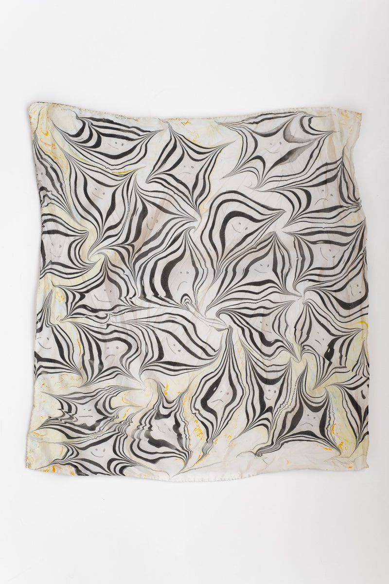 MARBLED SILK BANDANA NO. 18