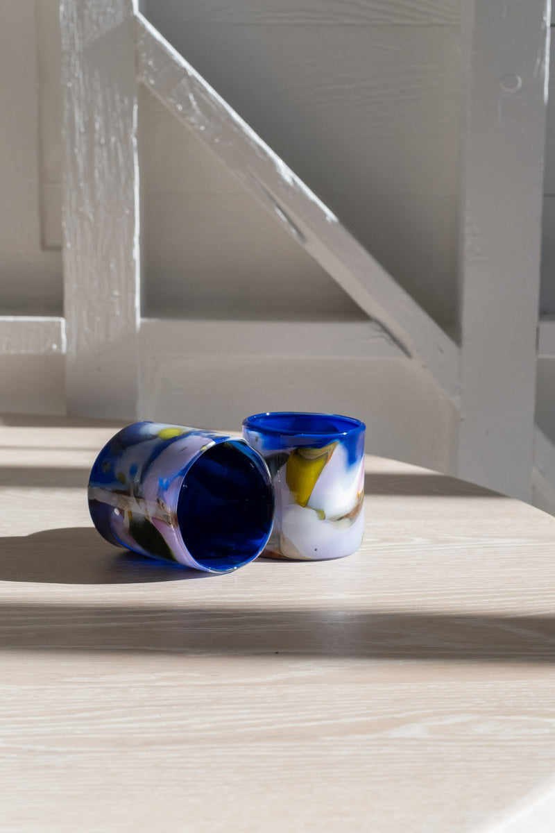 SWIRL BOWL IN  BLUE