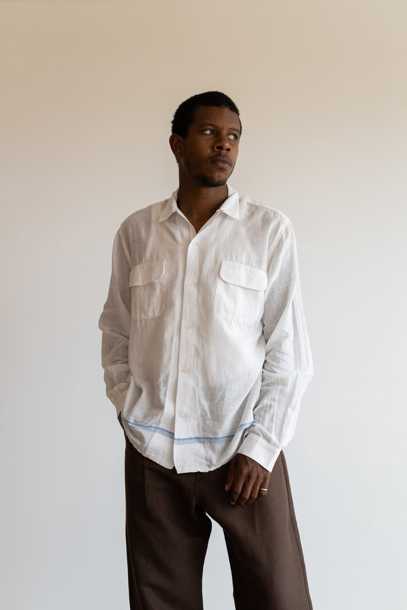 BASE STRIPE HAVANA SHIRT