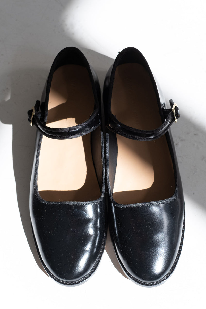 WELT ELLIE MARY JANES IN POLISHED LEATHER