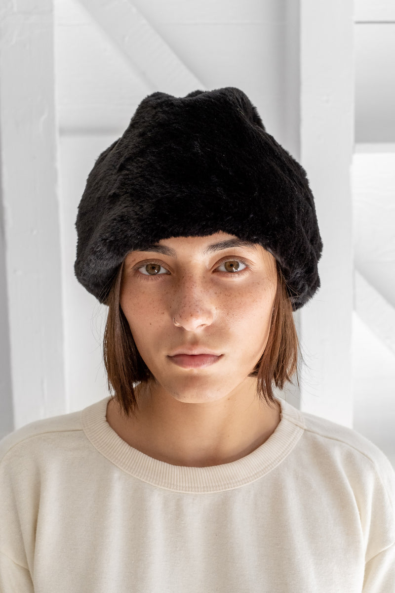 FAUX FUR TOQUE