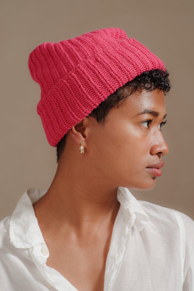 Reliquary | KNIT HAT IN FLAMINGO