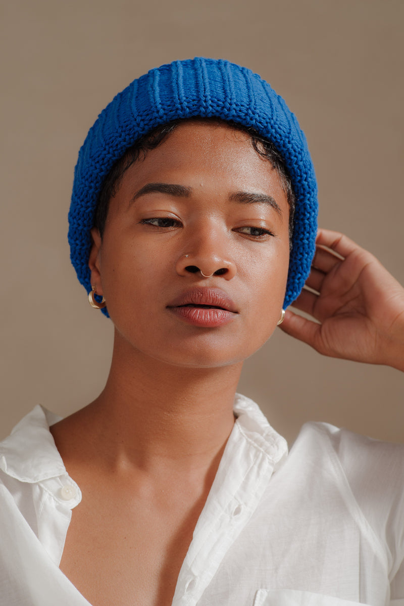 Reliquary | KNIT HAT IN ROYAL BLUE