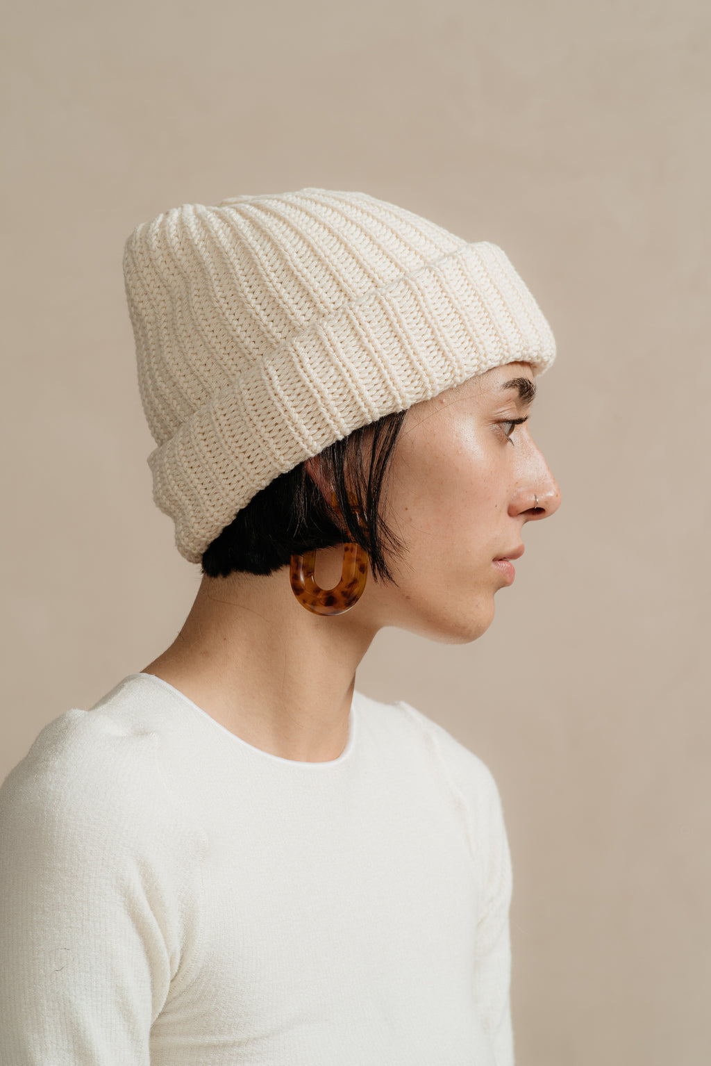 Columbia Knit | COTTON KNIT BEANIE IN NATURAL