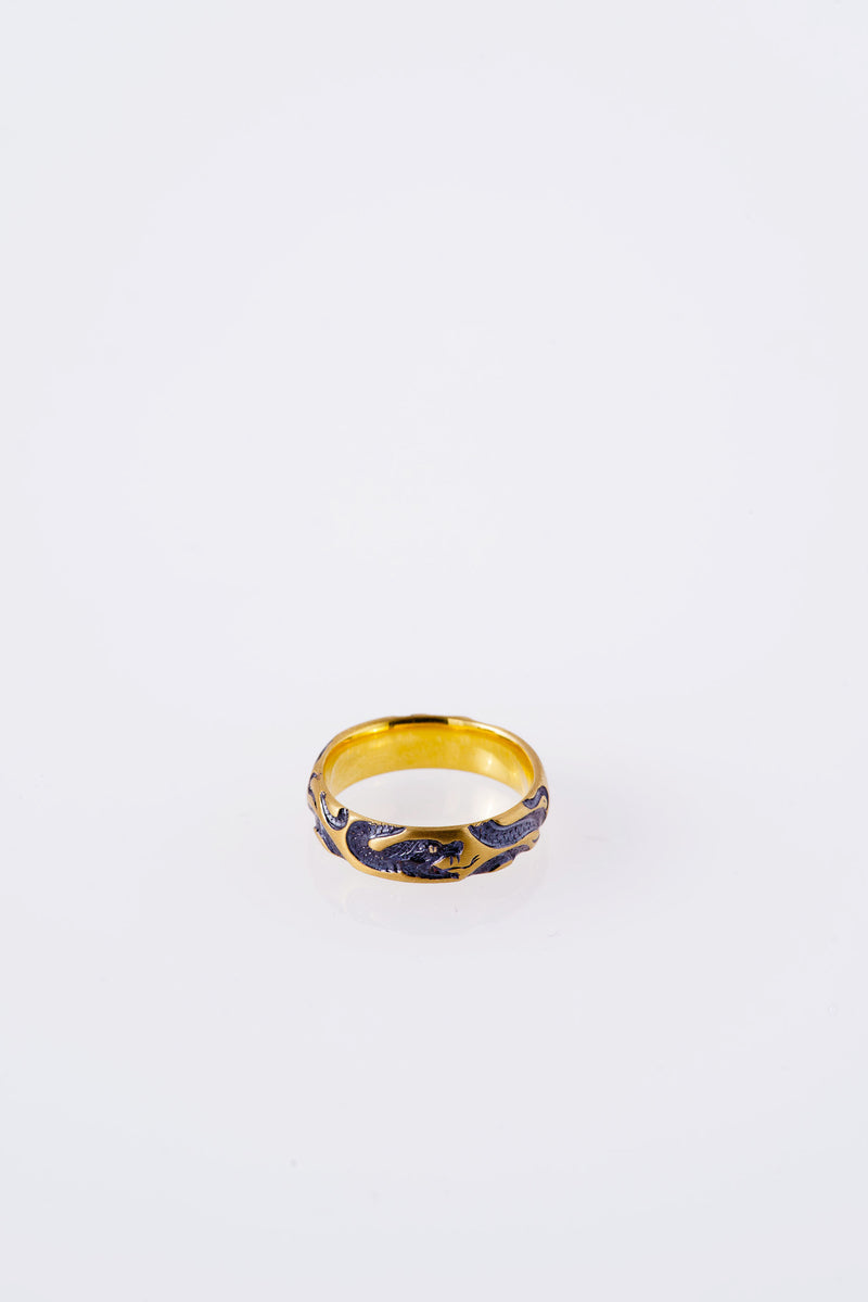 Castro-Smith-9K-SERPENTS-RING-WITH-BLUE-RHODIUM