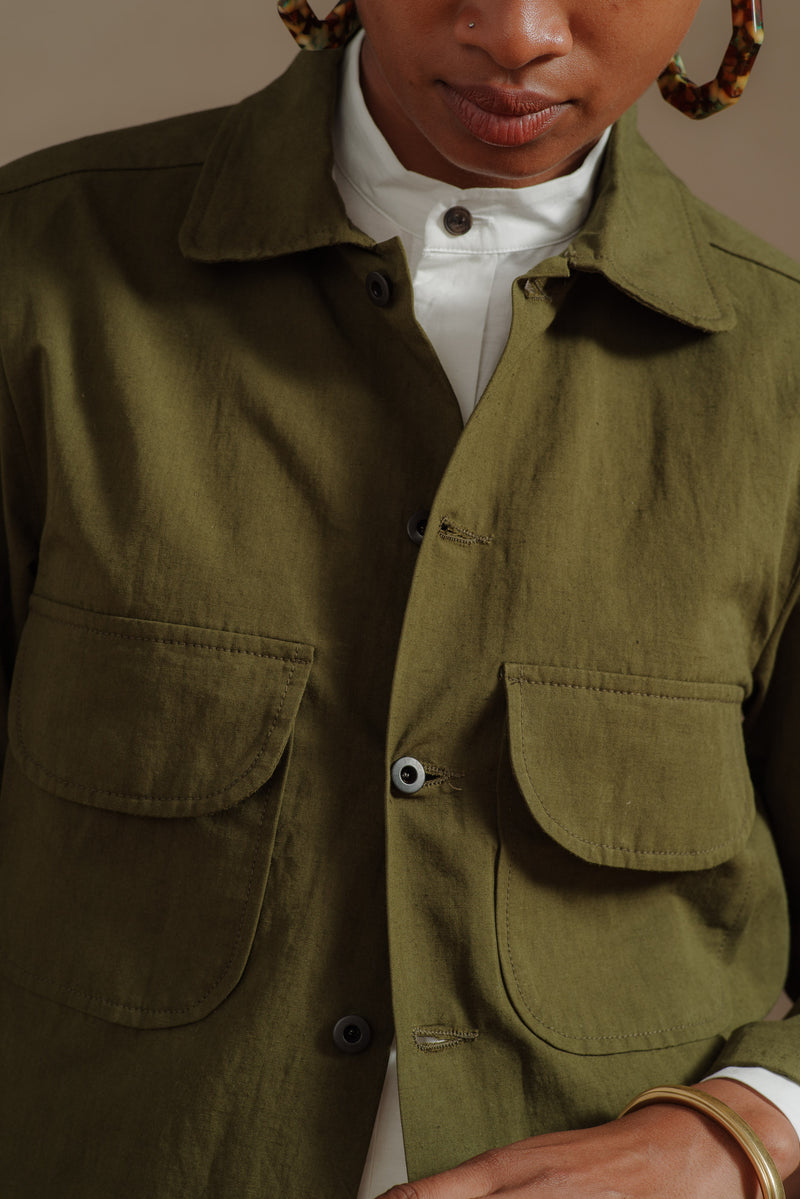 EVAN-KINORI-DARK-OLIVE-FIELD-SHIRT