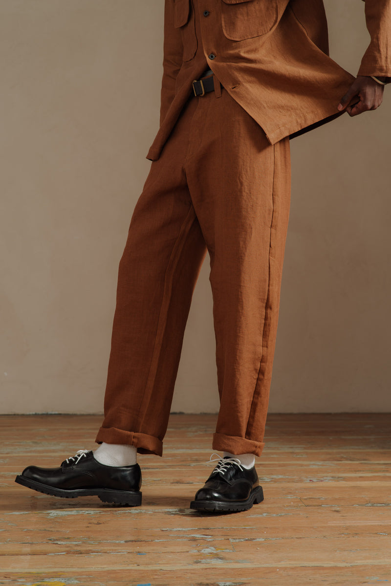 EVAN-KINORI-RUST-LINEN-4-POCKET-PANT