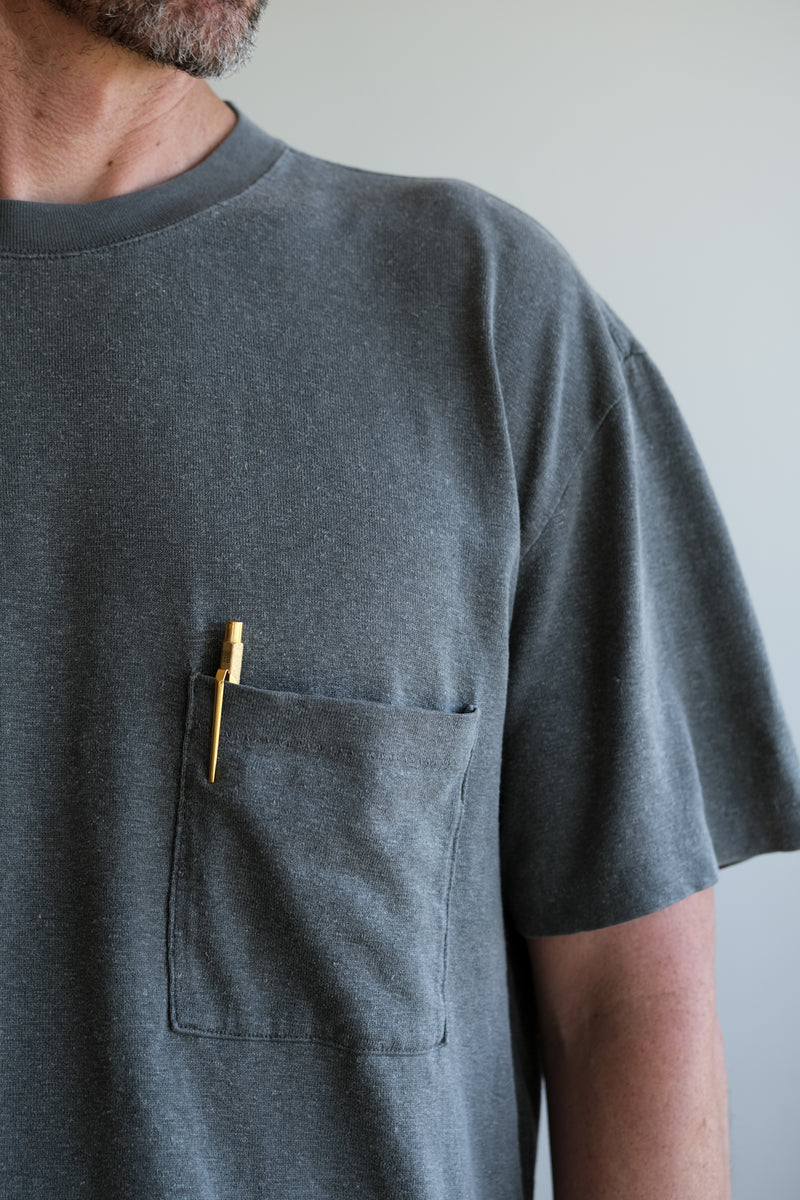 EVAN KINORI  X LADY WHITE CO. Pocket Tee in Pigment Black