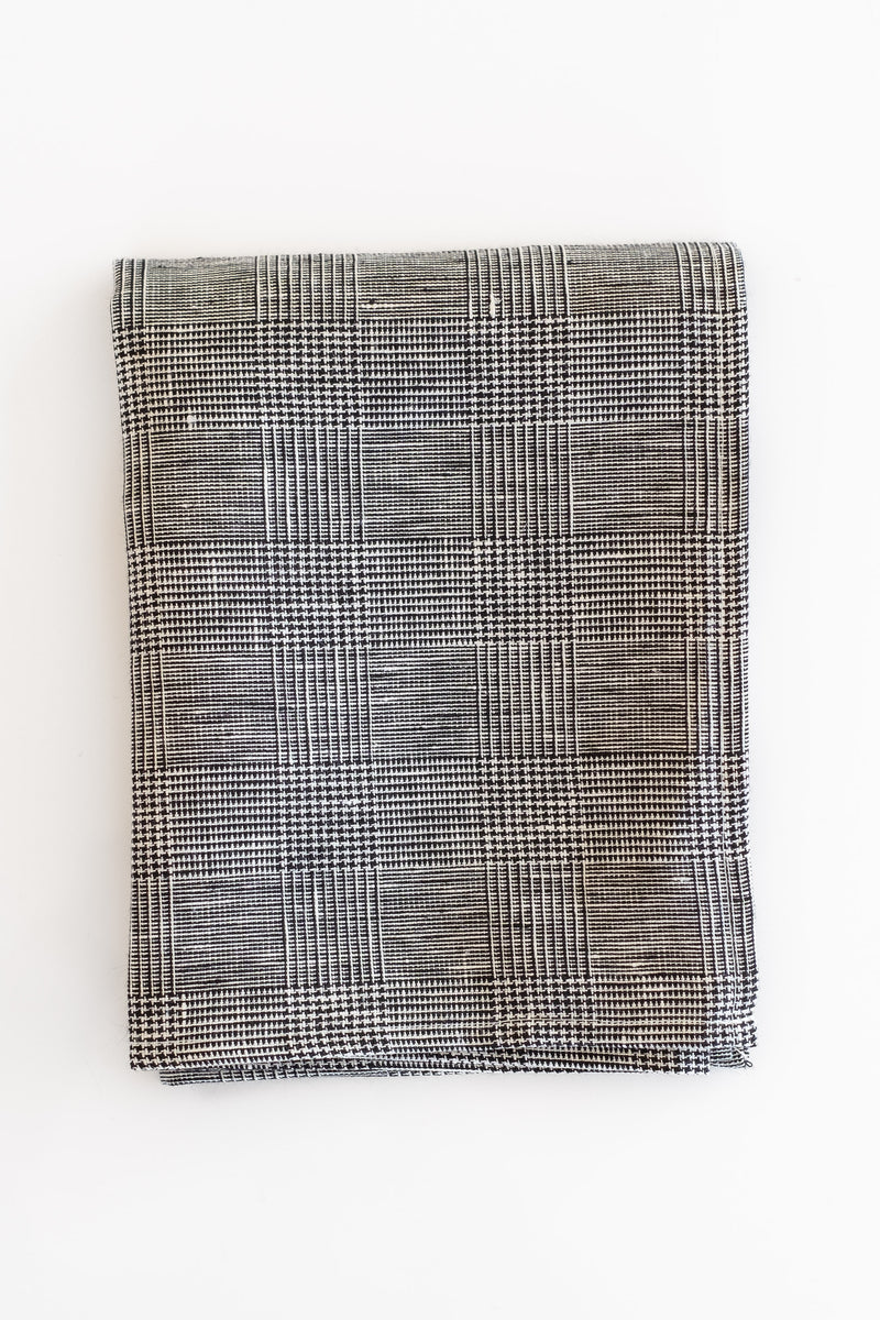 LINEN KITCHEN CLOTH IN GLEN CHECK