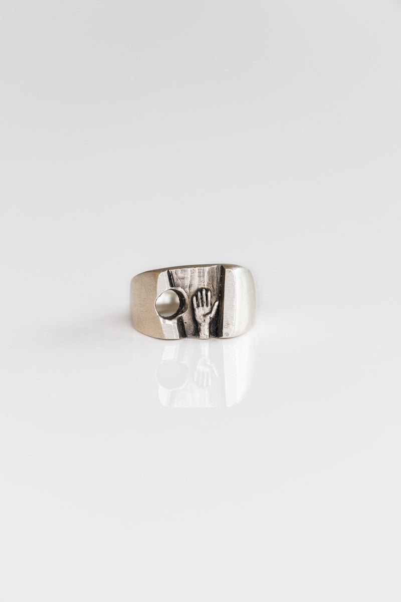 PALM RING IN SILVER