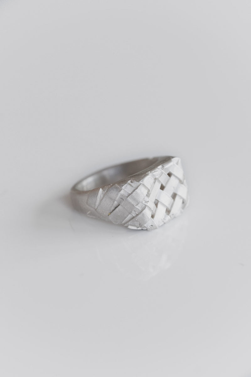 SILVER WEAVER RING