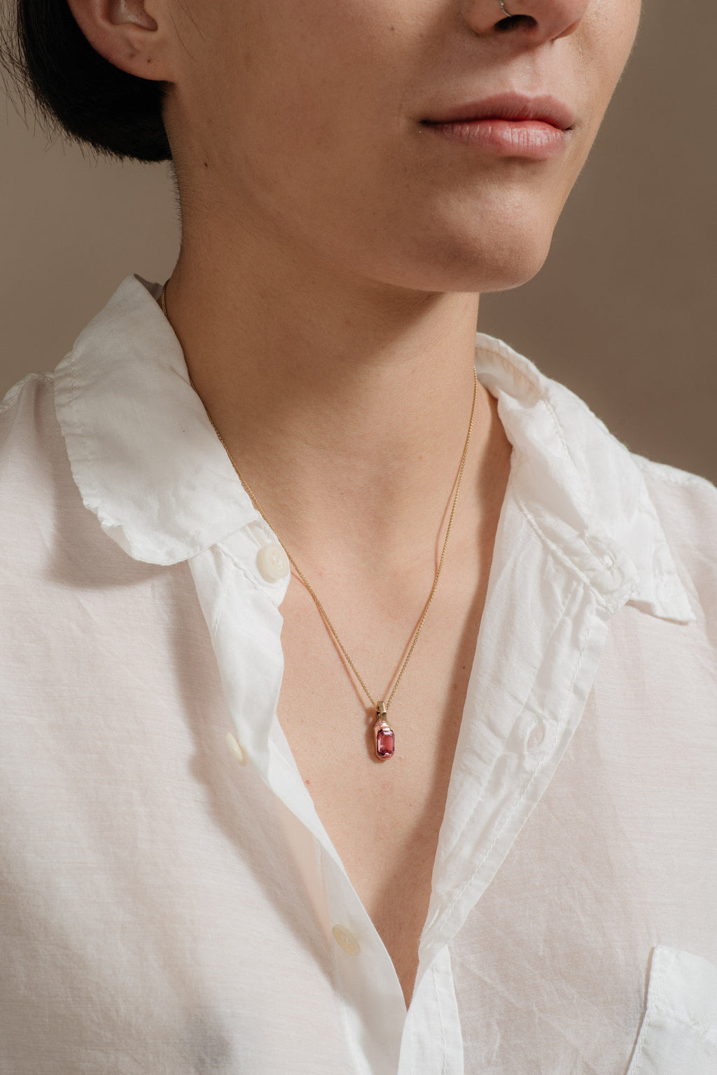 Fraser-Hamilton-9K-TOURMALINE-SILO-PENDANT-on-model