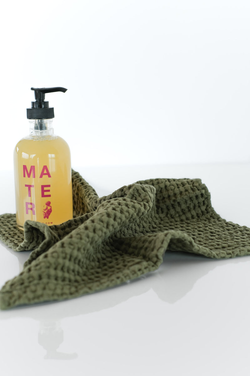 SIMPLE WAFFLE TOWELS IN OLIVE